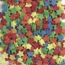 Stars Multi Coloured Edible Sugar Sprinkles For Cupcakes and Cake Topping