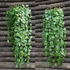 Artificial Hanging Ivy Vine Leaf Garland Fake Foliage Flowers Home Garland Decor