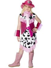 GIRLS RODEO GIRL FANCY DRESS COSTUME AMERICAN COWGIRL KIDS CHILDRENS USA OUTFIT