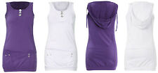 Girls Hooded Vest Top 100% Cotton Summer T Shirt Age 7 8 9 10 11 12 13 14 Years