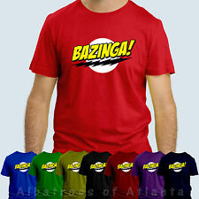BAZINGA!  big bang theory t-shirt 100% cotton