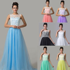 PLUS SIZE Lace Formal Evening ball gowns Party Prom Bridesmaid Long Maxi Dresses