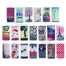 For Smart Phones Patterned Universal Faux Leather Card Pouch Case Cover Skin#C3