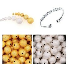 100pcs Silver&Golden Stardust Copper Ball Spacer Beads 3mm/4mm/5mm/6mm U Pick