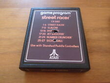 Street Racer. Atari 2600. Cart Only