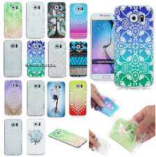 For Samsung Vogue Painted Ultra-thin Clear Soft TPU Back Rubber Skin Case Cover