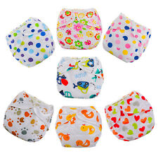 Newborn Baby Summer Cloth Diaper Cover Adjustable Reusable Washable Nappy