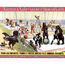 NEW Barnum & Bailey French Clowns Animals Circus Poster Home Decor Poster Art