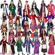 Tudor Queen Princess Historical Medieval Book Week Girls Fancy Dress Costume