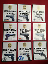 2# KEEP CALM, I CARRY `CONCEALED WEAPONS PERMIT` MAGNETIC SIGN, COLT, SIG +