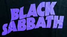 "New Black Sabbath ""Purple Black Sabbath Logo"" Rock Band Licensed Concert T-Shirt"