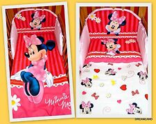 Nursery Baby COT /COT BED bedding set 3pcs.Official Disney Minnie Mouse& Daisies