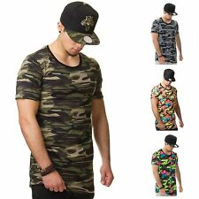 DJ White's 141001 T-Shirt Camouflage Long Zipper Oversized Shirt Swag Soldier