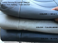 DELUXE Soft PU Synthetic Leather Double Stitched 4pc Front Bucket Seat Covers 9D