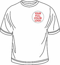 (12) FULL COLOR Personalized WHITE Custom S/S T-Shirts All Sizes Custom