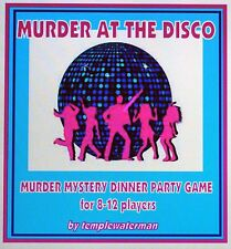 1970's MURDER MYSTERY DINNER PARTY GAME ~ MURDER AT THE DISCO ~ FOR 8~12 PLAYERS