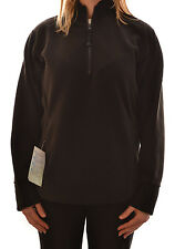 REGATTA SYBIL LADIES PULLOVER 1/4 ZIP OVERHEAD FLEECE TOP BLACK WA564 D1