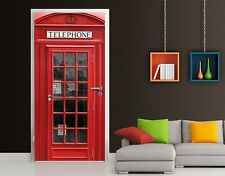 Photo Wall Mural Door TELEPHONE 100x210  Cellphone Call Red Acces Kommunication
