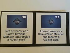Sam's Club Coupons - Lot of 2 ($10 or $25 off)