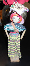 Vintage Made in Guatemala Folk Art Native Dress Woman Peasant Doll