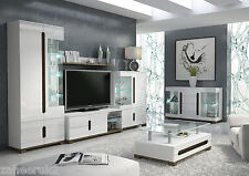 Lorenz White Gloss Sideboard TV Cabinet Display Unit Coffee Table Furniture