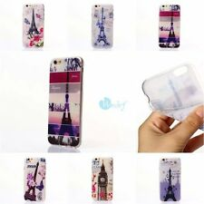 Paris and London Romantic Soft Rubber Gel Back Case Cover For iPhone 6s 6PLUS 5S