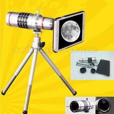18X Optical Zoom Telescope Camera Lens Tripod Kit + Back Case For iPhone Samsung