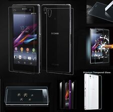 Front + Back 9H Tempered Glass Film Screen Protector Guard For Sony Xperia Phone