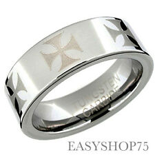 RT162 Gold Silver Tungsten Carbide Ring Comfort Fit Wedding Mens Jewelry 8mm