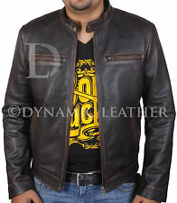 Contraband Mark Wahlberg's Mens Slim Fit REAL Cow Hide Leather Jacket