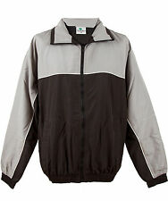 Tombo team wear mens tracksuit top black and grey size M           (1216)