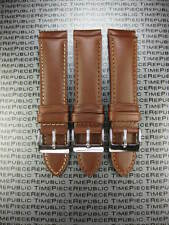 New 20mm Dark Brown Genuine CALF LEATHER STRAP 20 Watch Band X1 MOVADO