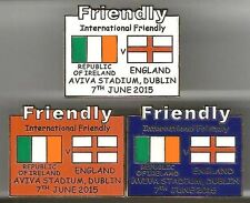 2015 Friendly - Republic of Ireland (ROI) v England ~ Match Day Badge