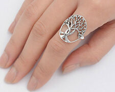 Silver Tree of Life Ring Sterling Silver 925 Bestseller Jewelry Selectable