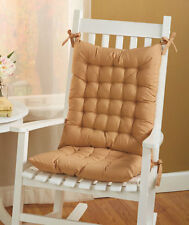 New Rocking Chair Cushion Set Soft Resistant Back Seat Comfort Cushions 3 Colors