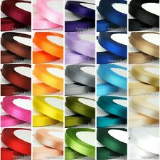 """25 Yards 6mm 1/4"""" Multicolor Satin Ribbon Wedding Party Sewing Embellishment New"""