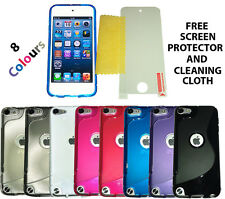 SLine Case Cover + Screen Protector For Apple iPod Touch 5 5th 5G Gen Generation