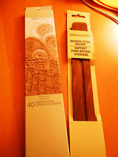 Set of  Incense (40 Sticks) withTeak Wooden Incense Holder -- for Your Home, New