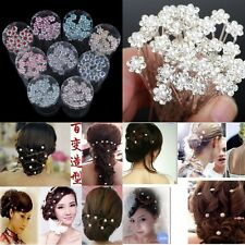 20PC Wholesale Wedding Bridal Pearl Flower Crystal Hair Pins Clips Bridesmaid