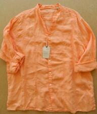 NWT CARIBBEAN Long Sleeve Linen Pale Orange Shirt  70% Off! Roll-Tab Sleeves