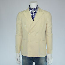 $395 NWT POLO RALPH LAUREN Linen Cotton Hamptons Double-Breasted Blazer