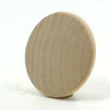 Round Circle Disk - 1 x 1/8 inch unfinished wood (WW-WNC100)