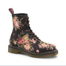 Dr Marten's 1460 Black Victorian Flowers Canvas Upper Ankle Boots 8,10 Msp $130