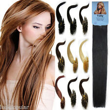 """Pre-Bonded Keratin Nail Tip U Tipped Gule Remy Human Hair Extensions 16""""-26""""100S"""