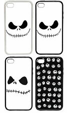 Jack Skellington Face Inspired Designs Rubber and Plastic Phone Cover Case