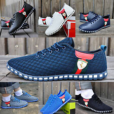 Vintage Mens Boys Trainers Gym Running Walking Shock Absorbing Sports Flat Shoes