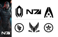 Mass Effect - Xbox/Playstation Vinyl Decal/Sticker Collection