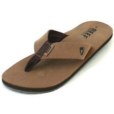 Reef Leather Smoothy,Men's Toe Sandals,Beach shoes,brown Leather,various. Sizes