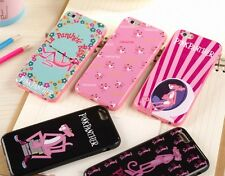 glossy pink Panther leopard cute soft rubber case cover thin iPhone 6/6s