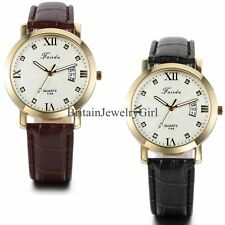 New Fashion Men's Date Military Sport Quartz Analog Leather Band Wrist Watch